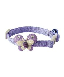 Collier papillon rose - Chat