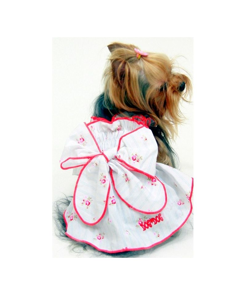 Robe mariage pour chien robe mariage chic pour chienne for Costume de robe de mariage de chien