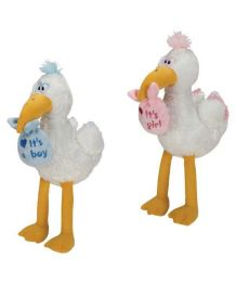 Plush stork with sound effects - 34 cm