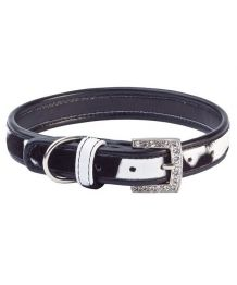 -20%: Leather rhinestone collar for small dog and cat pink