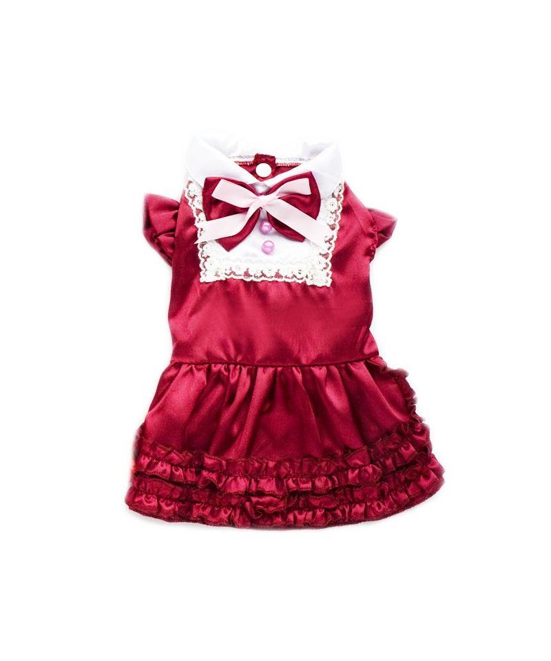 Robe rouge de noel pour chien robe chienne de noel for Robe de noel rouge