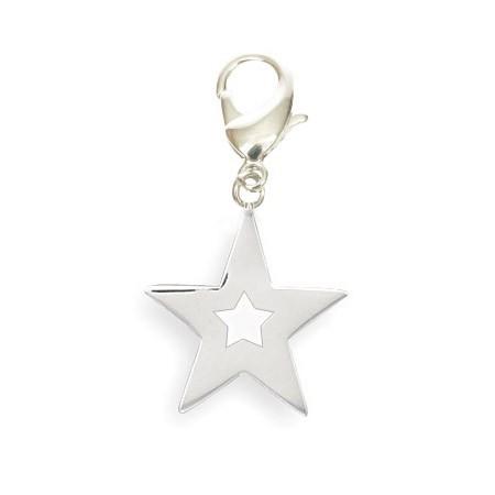 Pendentif étoile à accrocher au collier de votre chien, chat, porte clés...Livraison Corse, Ajaccio, Bastia, Porto Vecchio...