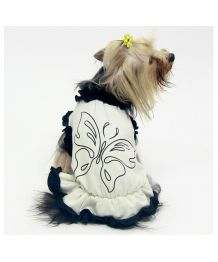 """T-shirt """"Butterfly"""" black and white dog and cat"""
