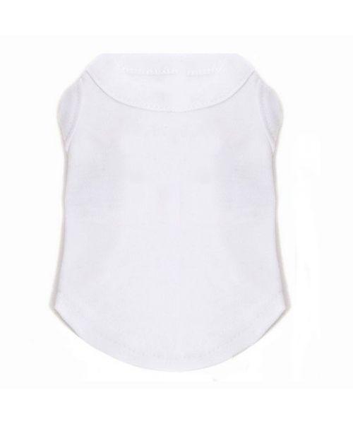 t-shirt uni blanc pour chien à personnaliser avec prénom, nom, photo pas cher à prix discount sur animalerie originale