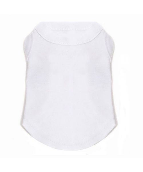 t-shirt uni white dog to personalize with first name, last name, photo cheap discount prices on pet shop original