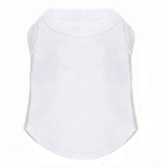 plain white dog t-shirt to personalize with first name, last name, photo at a discount price on original pet store
