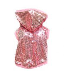 Veste rose pour chiens orné de sequins