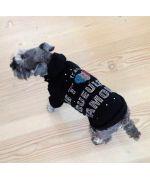Pull à capuche strassé pour chien et chat de la marque Gueule d'amour en vente sur notre boutique mode pour animaux