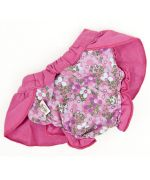 Hygienic briefs for dog girl female pink with skirt cheap panties small animals