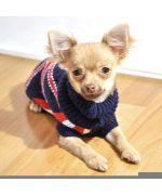 Pull pour chien en laine fashion et pas cher union jack : chihuahua, yorkshire, bichon, caniche, westie, bouledogue, carlin...
