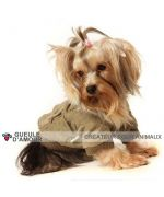 Coat for stuffed dog all soft christmas gift original and cute, delivery to Paris, Marseilles, Lyon, Metz, Nancy