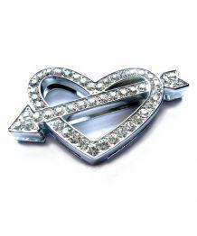 Big heart cupid rhinestone for necklace customizable