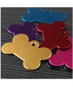 Medal aluminum to burn - bone shape pink color, red, blue , green, free delivery 24/48H