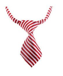 Striped tie red-and-white