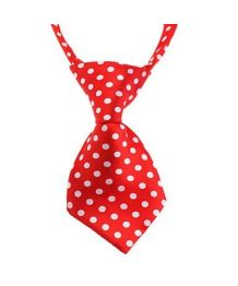 Tie red polka dots and white
