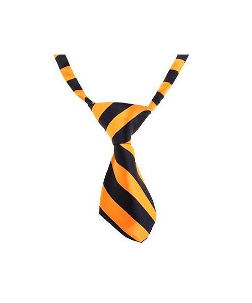 cravate orange et blanche accessoires halloween pour chien chat chaton chiot animaux de compagnie