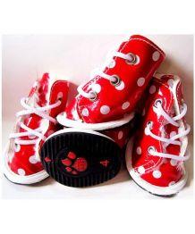Chaussures de pluie pour chiens rouges
