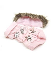 Down jacket waterproof light pink - Dog