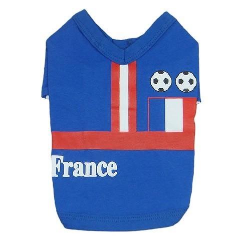 t-shirt football chien chat equipe de france pas cher livraison rapide taille XS S M L XL 2XL sur gueule d amour