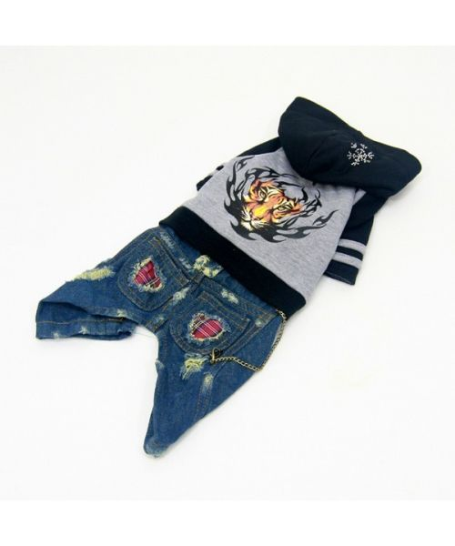 Combination of jean for small dog size : miniature, york, chihuahua...Size XXS, XS, S, M, L, XL, 2XL, 3XL, 4XL...