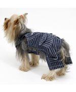 Salopette pour chien style jean ultra souple et confortable pour petit et grand chien sur boutique originale de cadeaux chiens