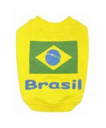 T-shirt football Brasil - Chien et chat