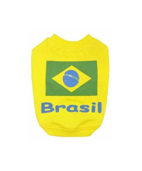 clothing football dog cat team brazil world cup fast shipping size XS S M L XL 2XL on mouth d love