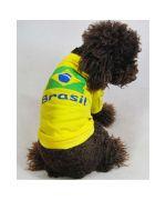 habit foot pour animaux coupe du monde Bresil pour supporter chien et chat sur animalerie mode original chien