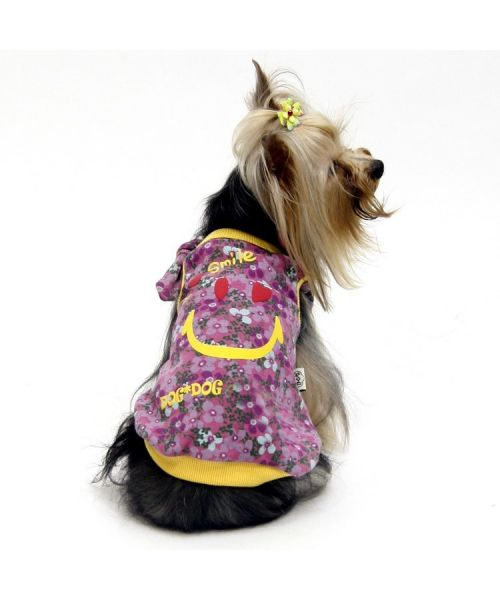 Embroidered flowers summer dog original cheap : t-shirt for chihuahua, yorkshire terrier, bulldog, sharpei..