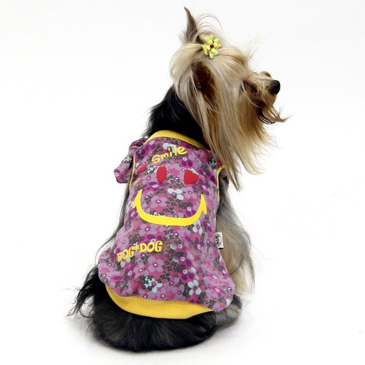 Cheap and original summer flower clothing for dogs: tee-shirt for chihuahua, yorkshire terrier, bulldog, sharpei ..