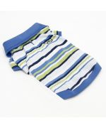 Polo shirt for dog cheap mouth of love striped blue green white small and large breed of dog pet