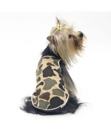 Tank top for dog camouflage