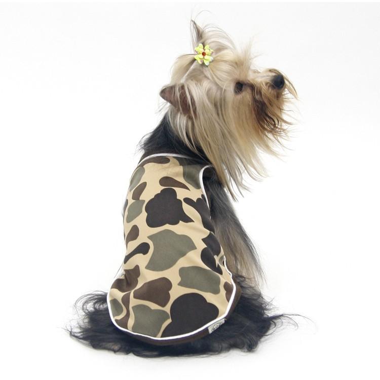 Débardeur camouflage pour chien et chat pas cher original petite et grande race : chihuahua, sharpei, bulldog, york...