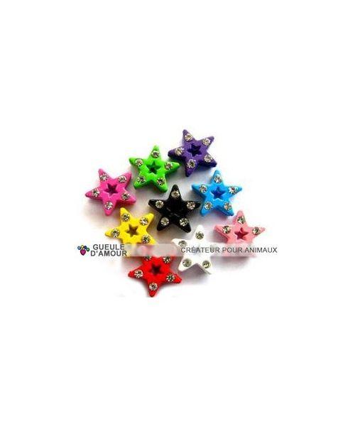 star rhinestone rainbow jewel necklace customizable dog cat 10 mm pas cher boutique shop online Nancy Metz