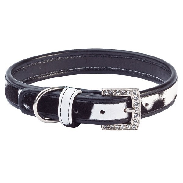buy black necklace rhinestone for westie very class fashion beautiful design leather delivery marseille, nantes, lyon, mulhouse