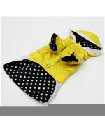 buy waterproof yellow black polka dot mini, small, medium, large dog, puppy against the rain-effective and convenient