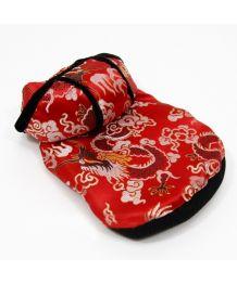 Manteau asiatique pour chiens et chats rouge