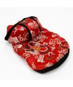 acheter manteau chinois pour chien rouge : yorkshire, lhassa apso, shitzu, westie, chihuahua, bouledogue francais...
