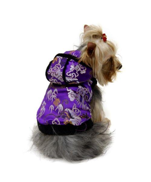 Manteau chinois pas cher pour chien chat animaux original et tres beau satin chaud cadeau noel unique gueule d amour