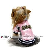 coat dog fur pink class original rock fun for the snow rain wind small size chihuahua yorkshire