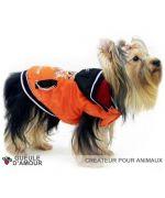 Imperméable pour chien contre la pluie le vent la neige orange taille XXS XS S M L XL 2XL 3XLspecial chihuahua, yorkshire...
