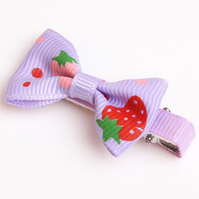 barrette purple violet for little dog with clip good maintenance fast an easy mouth d love
