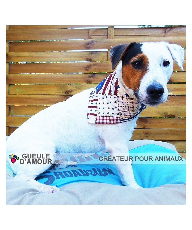 Panier Pour Jack Russel Pas Cher : Bandana chien bandanas pour foulard