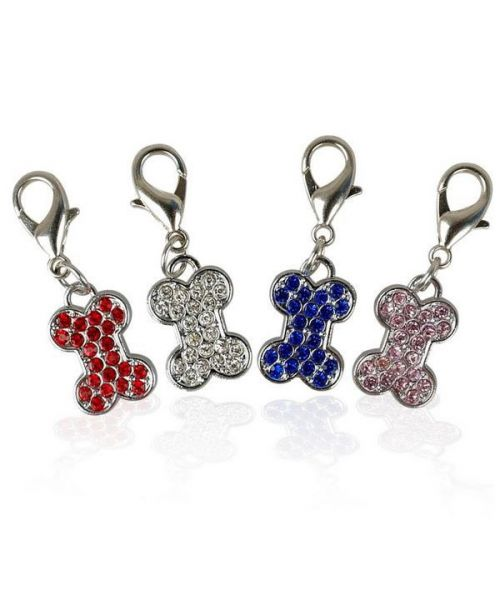 Pendant, rhinestone bone Dog and cat for cheap gift for pet shop pet shop original