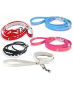 Leash rhinestone dog cat pet black red pink blue white cheap promotion