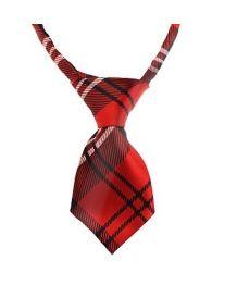 Cravate rouge pour chiens et chats écossaise