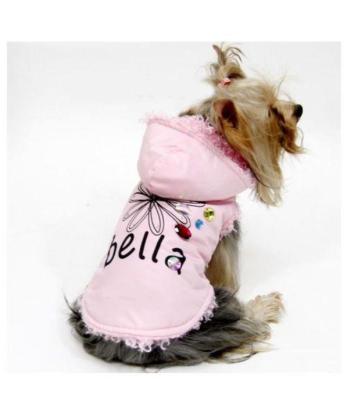Manteau à capuche rose pour petit chien taille XXS XS, mini chihuahua, toy, yorkshire sur Paris, Marseille, Lyon, Monaco
