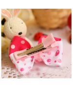 stream romantic hair pink-and-white clip barette cheap baptism wedding anniversary gifts cheap