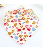 bandana for funny animals with dog paws at mouth of love