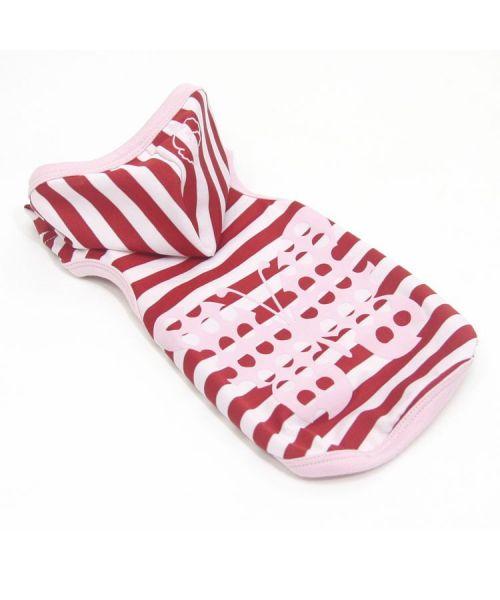 sweat pour chien a capuche fun et original rouge et blanc rayé papaillon pour cadeau chihuahua, cavalier king charles, bichon